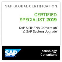 sap cert sap s4hana conversion sap system upgrade 2019 4